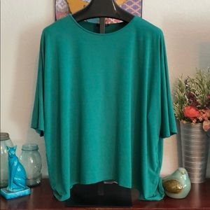 Eileen Fisher Green oversized top size XL